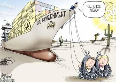 cartoon_futuretaxpayerscarrybiggovernmentboat